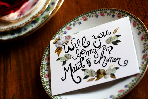 Rifle style bridesmaids cards