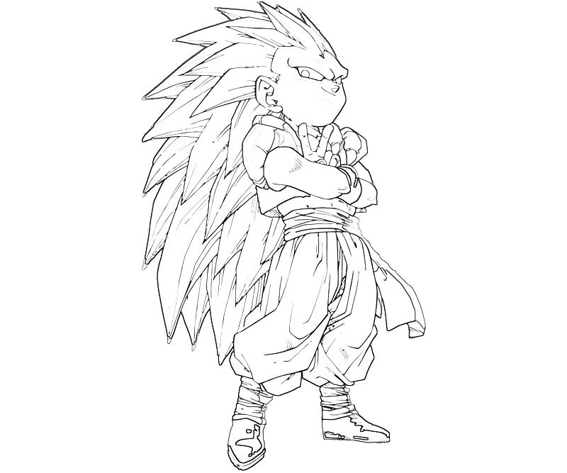 goten coloring pages - photo#11