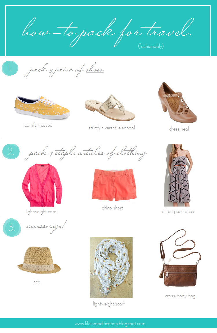 how to pack for summer vacation