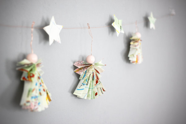 Engel falten: Do-it-yourself Adventsdeko