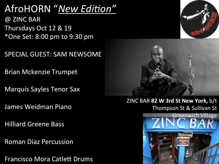 AfroHorn @ Zinc Bar (October 2017)