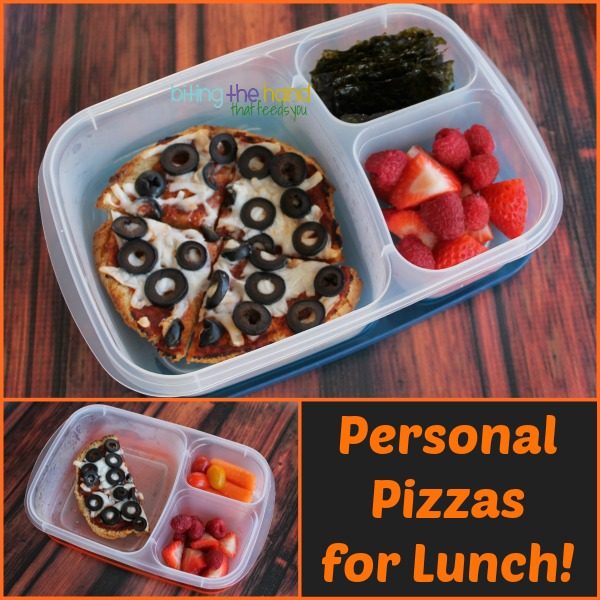 Mini gluten-free pizzas for school lunch