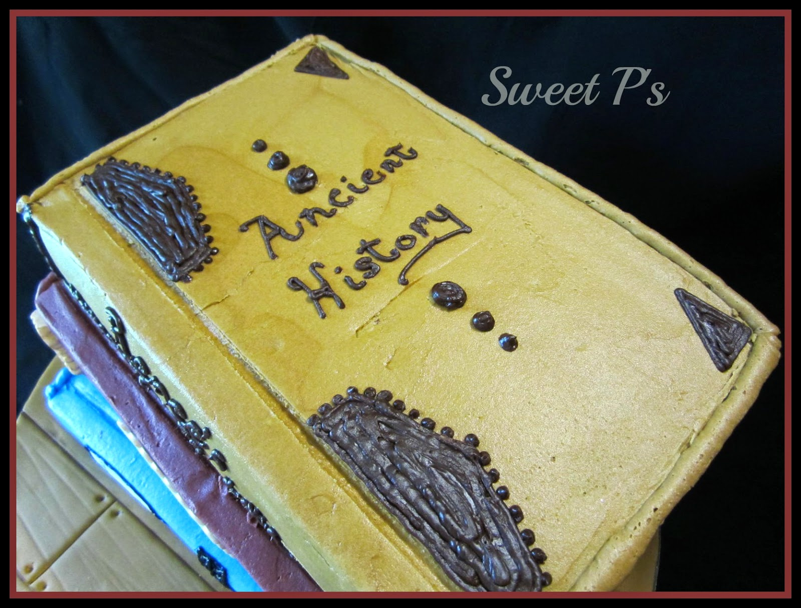 buttercream book cake