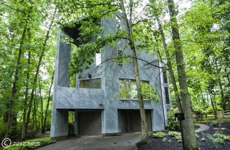 Casa brutalista en Maryland Estados Unidos
