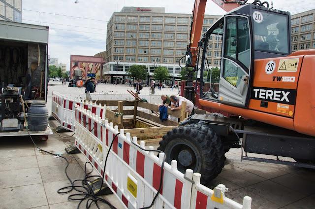 Baustelle Tiefbauarbeiten, Alexanderplatz, 10178 Berlin, 02.06.2015
