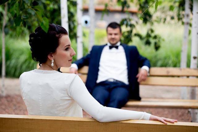 perłowe kolczyki ślubne z sutaszu