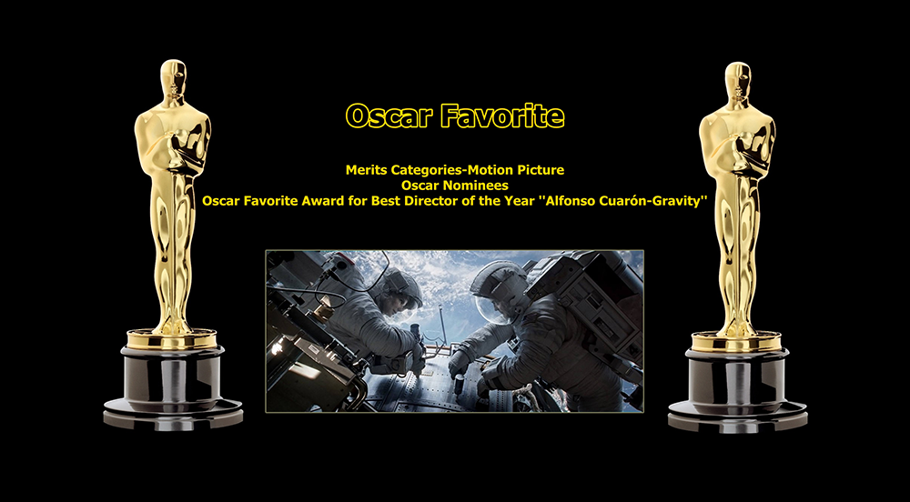 oscar favorite best director award alfonso cuaron gravity