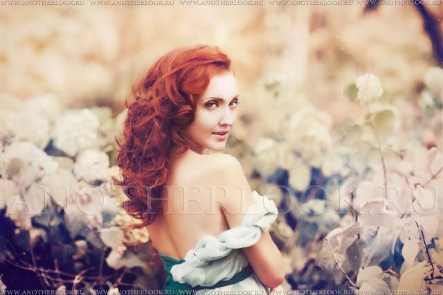 фотосессия рыжей феи