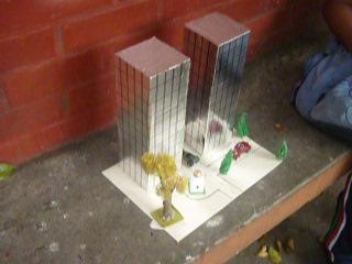 torres gemelas maqueta en cartulina