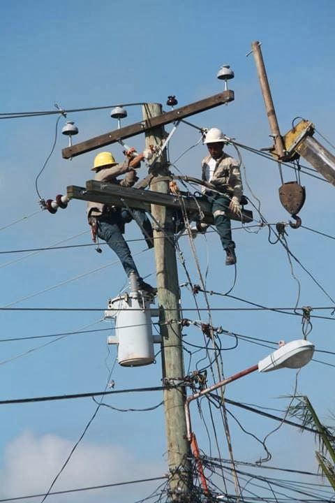 Restoration of power lines in Bogo City