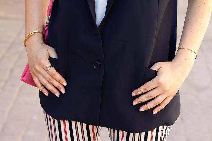 Tendencia en complementos pulsera clavo y anillos midi