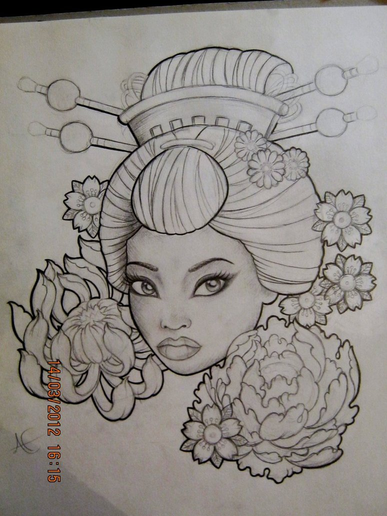 pin geisha tattoo gueixa on pinterest. Black Bedroom Furniture Sets. Home Design Ideas