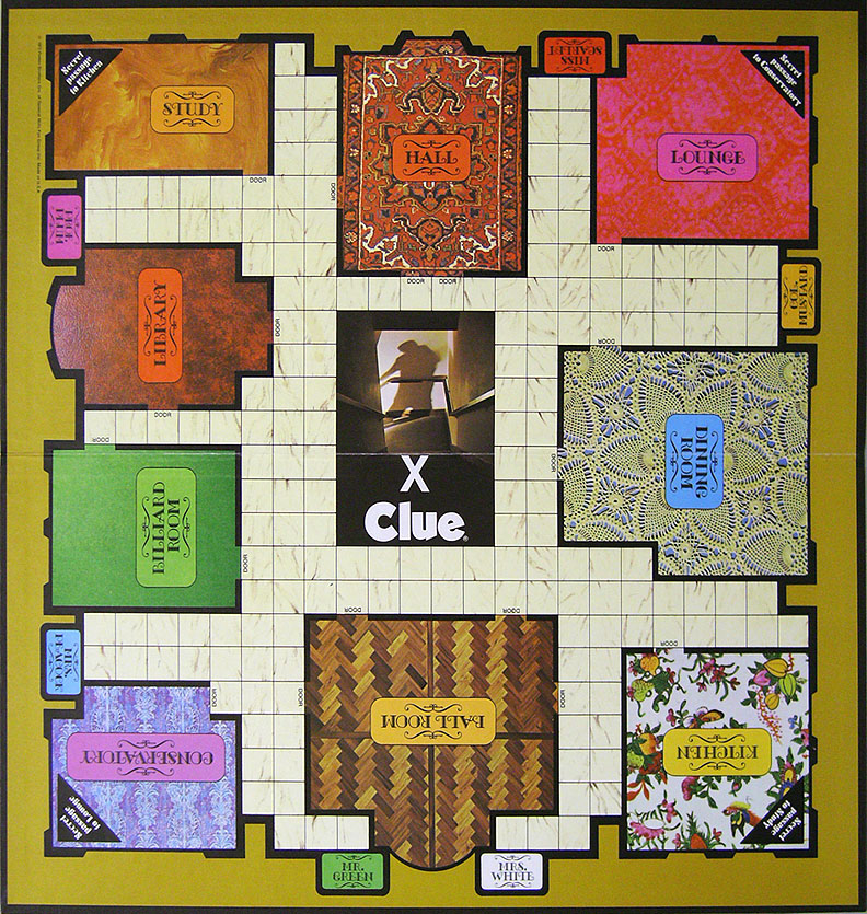 Universal image inside clue game board printable