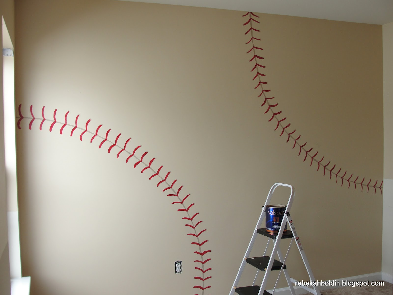 The Finished Baseball Wall
