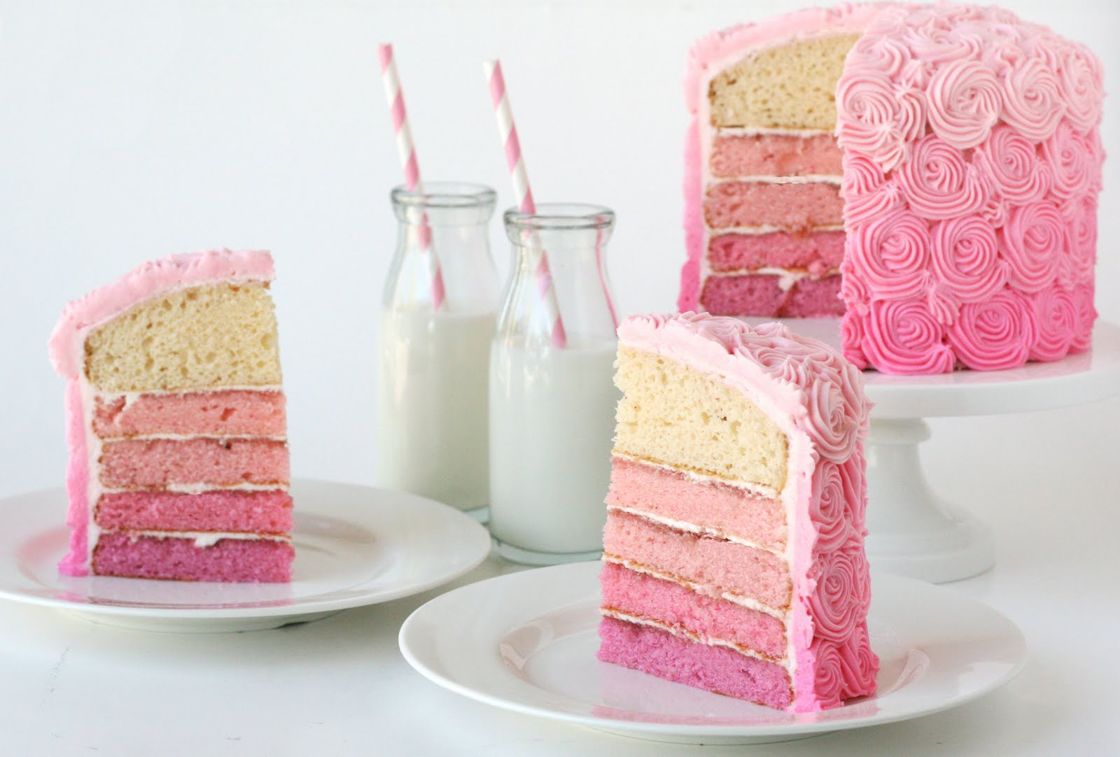 Pink Ombre Swirl Cake – Glorious Treats