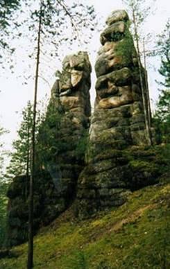"""Одним из самых главных достопримечательностей Красноярска является известный всему миру заповедник  """"Столбы """"."""