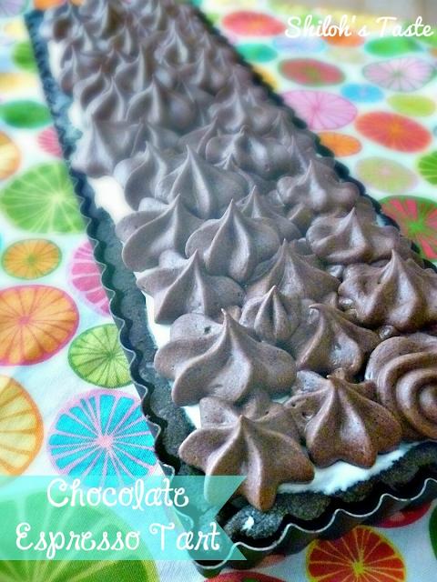 Chocolate Espresso Tart   www.shilohstaste.com #chocolate #dessert
