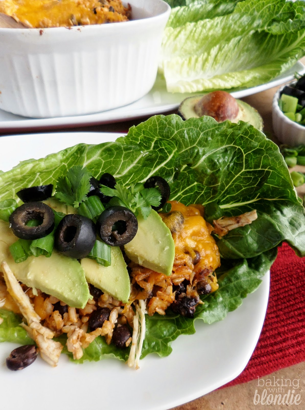 Mexican Chicken And Rice Lettuce Wraps