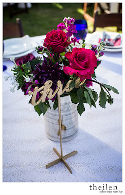 Fuchsia and Gold Wedding Centerpieces l Theilen Photo l Take the Cake Event Planning