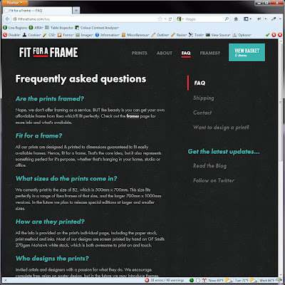 Screen shot of http://fitforaframe.com/faq.