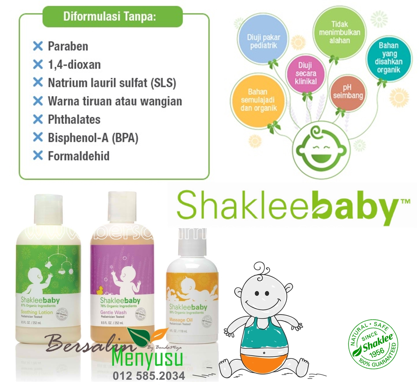 SHAKLEE BABY BUY 1 FREE 1, NATURAL, ORGANIK, PEDIATRICIAN TESTED, HYPOALLERGENIC