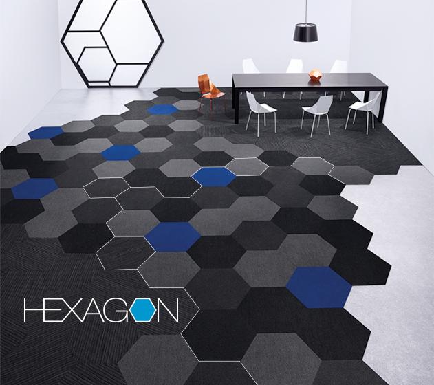 Everitt Design Hexagon Carpet Tile