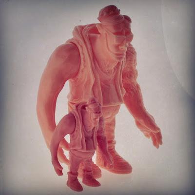 """Zinkeshi"" Zinewolf M.U.S.C.L.E. Pink Vinyl Figure by Hateball"