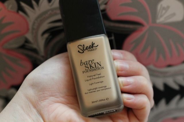 Sleek, drugstore, makeup, foundation, bargain, bare skin foundation, shell,