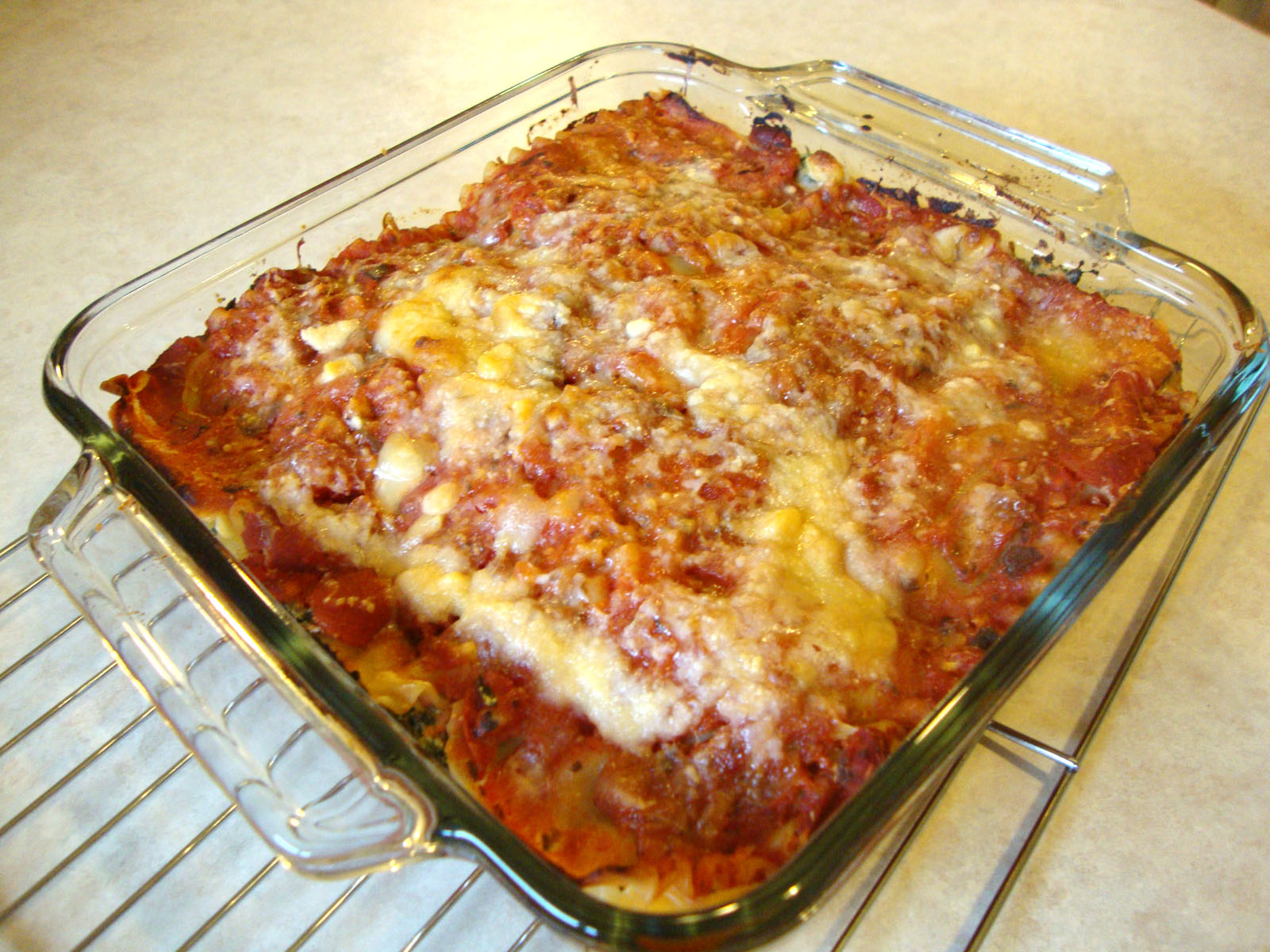 my back pages: spinach and prosciutto lasagna