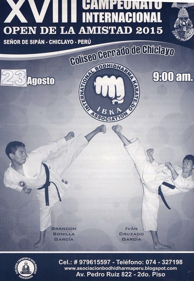"""XVIII CAMPEONATO INTERNACIONAL DE KARATE  """"Open de la Amistad 2015""""  Chiclayo-Perù"""