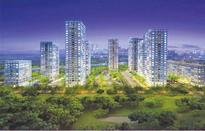 không gian xanh ở từng căn hộ Happy Valley lẫn khu công cộng