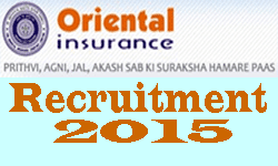 Oriental Insurance 246 Administrative Officers Recruitment 2015