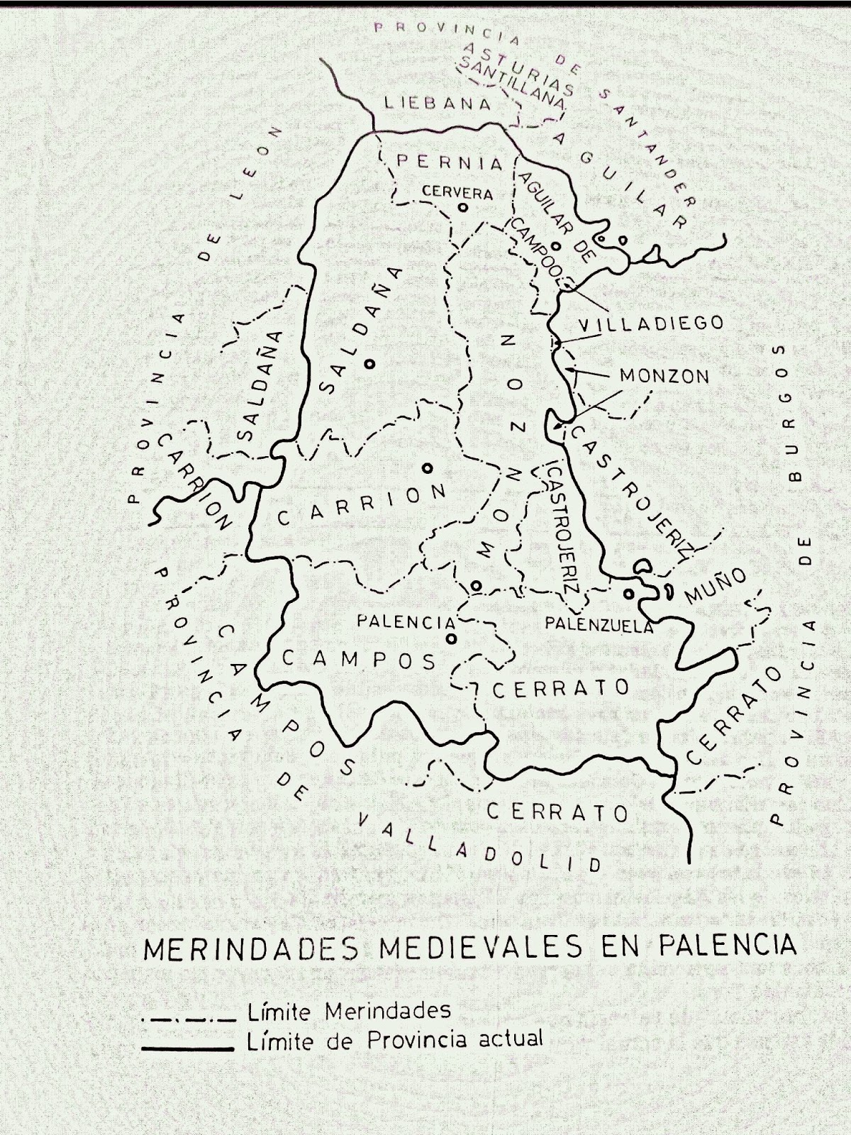 Merindades de Castilla en Palencia