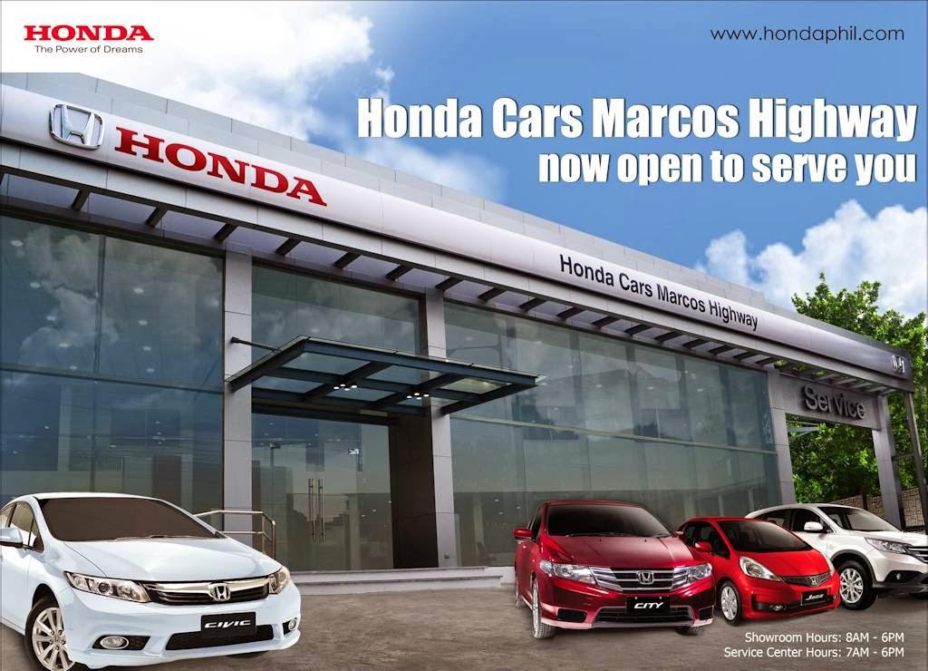 Honda cars marcos highway opens philippine car news car for Honda car dealer