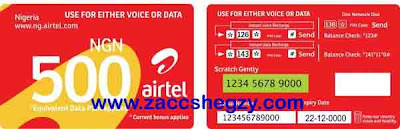 Airtel Single Recharge Card