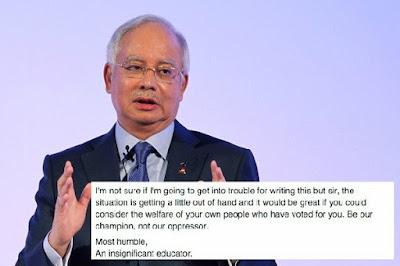 Surat Terbuka Berani Mati Daripada Seorang Guru Untuk PM