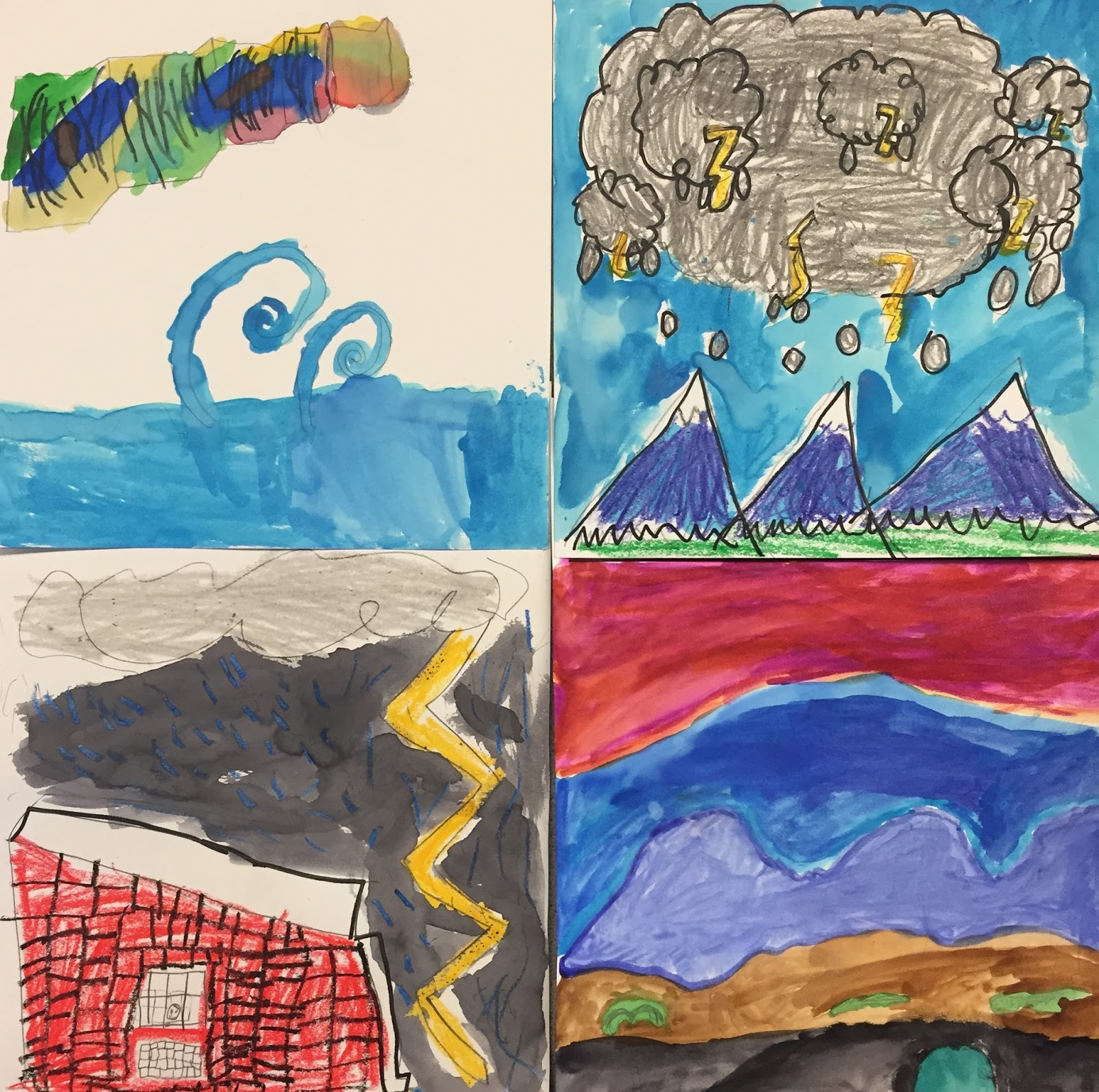 small batch art: 2nd grade documents the weather!