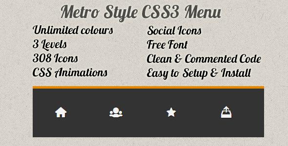 Metro Style CSS3 Menu