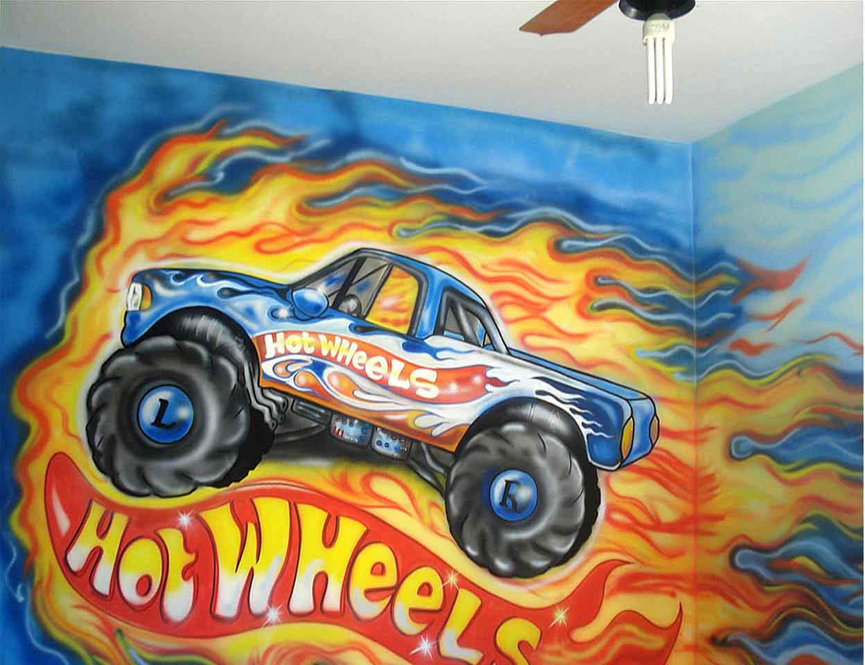 Papel De Parede Para Quarto Infantil Hot Wheels Redival Com ~ Papel De Parede Grafite Para Quarto