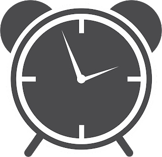 High Resolution Vector illustration of black alarm clock.