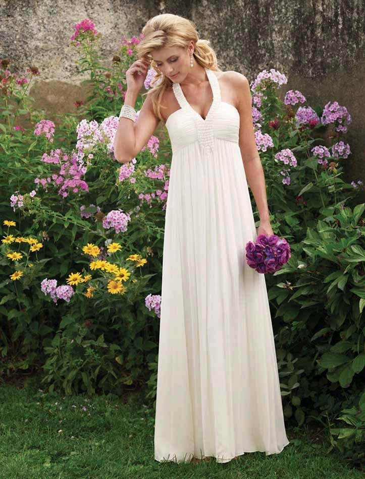 Informal White Wedding Dresses for Older Women Design pictures hd