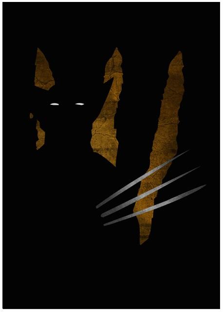 Lily's Factory ilustrações quadrinhos super heróis marvel dc sombras minimalistas Wolverine
