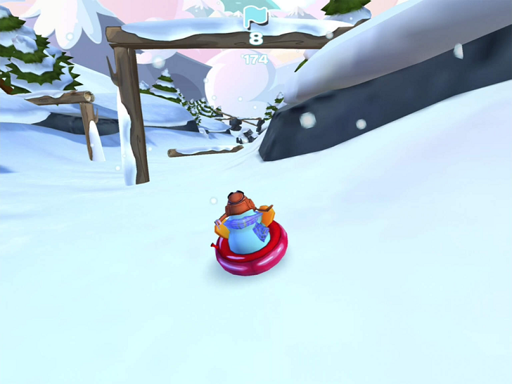 Club Penguin Sled Racer Free App Game By Disney