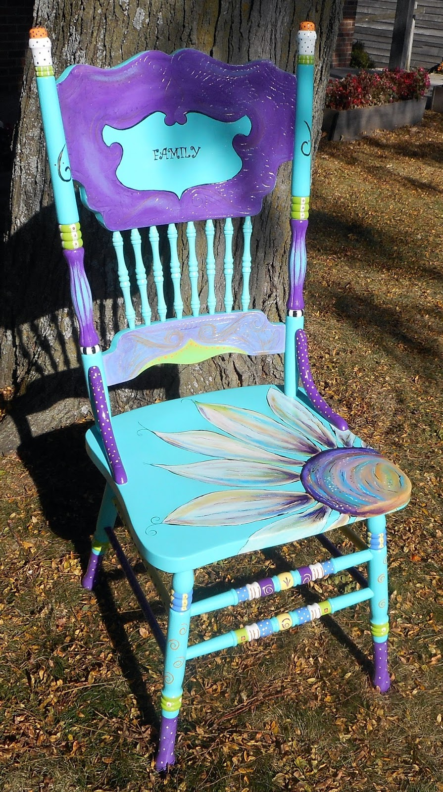 Carolyn 39 s funky furniture the painted chairs for Funky furniture