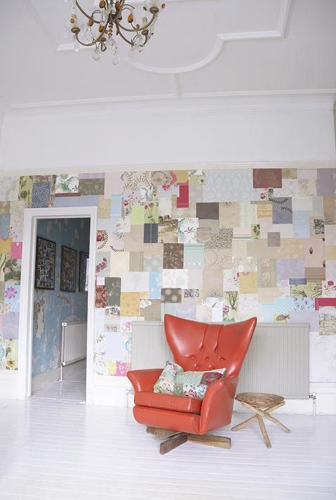 A deco elementos de dise o patchwork de empapelados - Dormitorios empapelados ...