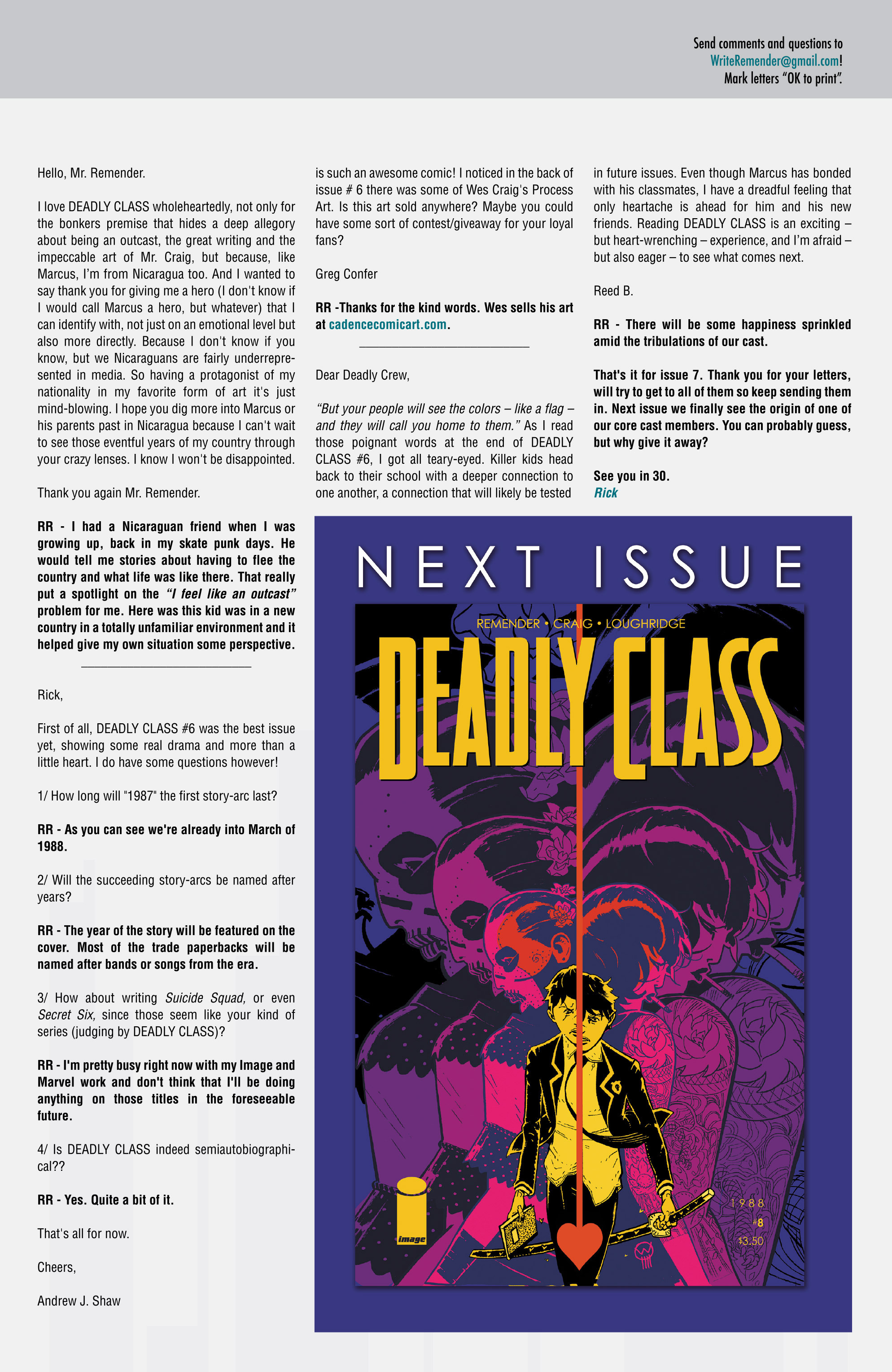 Read online Deadly Class comic -  Issue #7 - 29