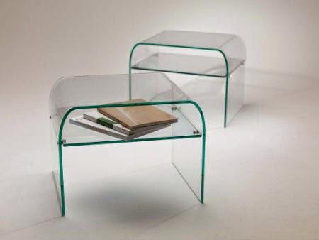 Tavolini in vetro curvato contemporanei e for Tavolini vetro