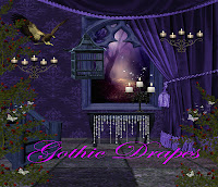 Gothic Drapes digital fantasy backgrounds
