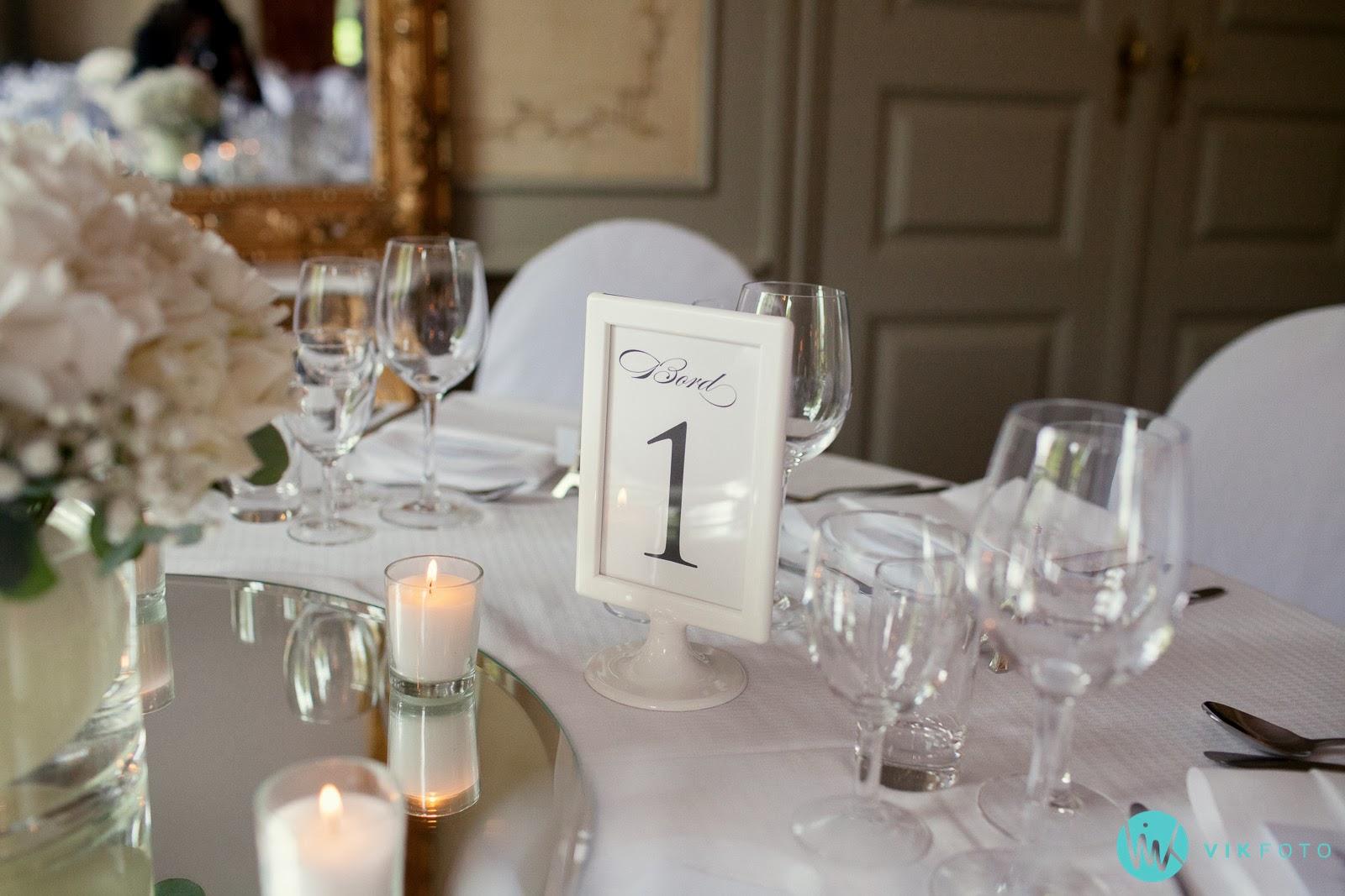 Bordnummer bryllup