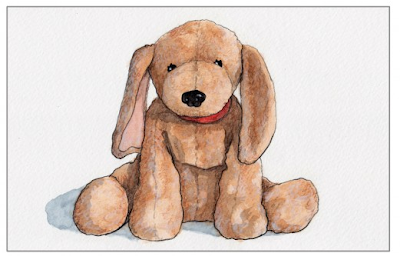 stuffed animal toy portrait